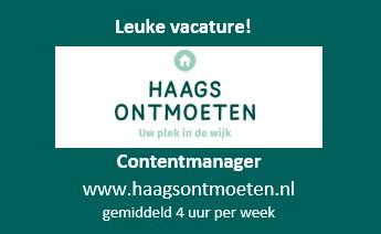 Vacature: Contentmanager www.haagsontmoeten.nl (4 uur per week)